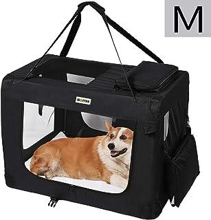 MC Star Transportin para Perros Gatos Mascotas Plegable Portátil Impermeable Tela Oxford Portador Bolsa de Transporte para Coche Viaje, M 60 x 42cm Negro