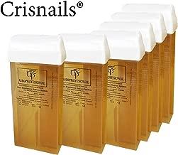 Crisnails® 6 Cartuchos Roll-Ons de Cera Depilatoria Tibia de 100ml/ud para Depilación con Bandas Depilatorias