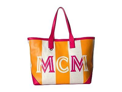 MCM Ilse Canvas Shopper Large (Love Potion) Tote Handbags
