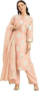 Soch Women's silk straight Salwar Suit Set