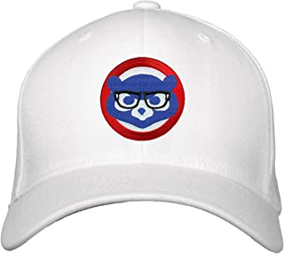 Cubs White Baseball Hat Chicago Cubbie with Joe Maddon Harry Caray Novelty Glasses
