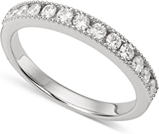 Forever Classic White Gold 2.0mm Moissanite Ring, 0.36cttw DEW by Charles & Colvard