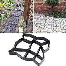 DIY Molde de pavimento, molde para hacer caminos, reutilizable, diseño de cemento de hormigón, molde para hacer paseos, patrón para pavimentar pavimento, patio, jardín, pasarela (33x33x3.6cm(A))