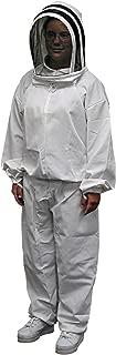 Mann Lake CV550 Honey Maker Bee Suit with Veil, White, Junior