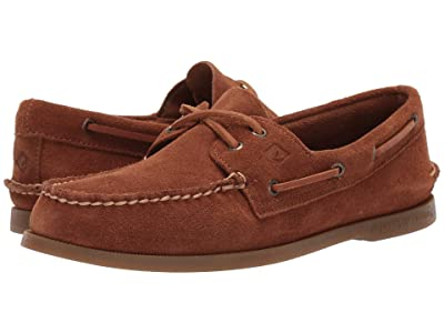 Sperry A/O 2-Eye Suede (Dark Tan) Men