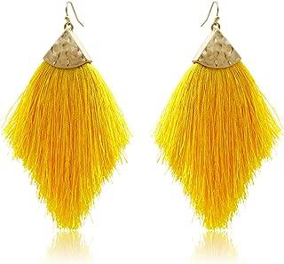 Best mustard yellow tassel earrings Reviews