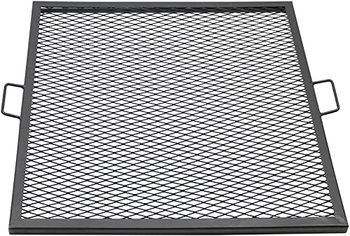 2021 Sunnydaze X-Marks Fire Pit Cooking Grill Grate - Outdoor Square Metal BBQ Campfire Grill - Portable Outside Camping Gear Cookware outlet sale - Bonfire Accessory discount - 30 Inch online sale