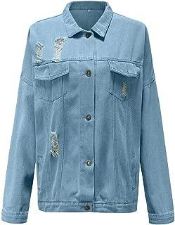 Rosatro Women Denim Jackets Ladies Casual Outwear Denim Full Sleeves Comfort Fit Button Bomber Jacket