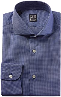Black Label Panama Weave Cutaway Collar Dress Shirt |...