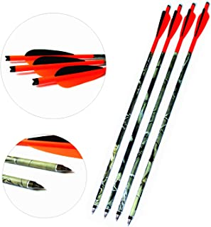 MS JUMPPER Carbon Crossbow Bolt Arrows Fletched 4 Inch Vanes with Field Point Pack of 6