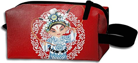 Cosmetic Bags Beijing Opera Costume Dance Music Portable Travel Toiletry Pouch Clutch Bag with Zipper