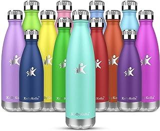 comprar comparacion KollyKolla Botella de Agua Acero Inoxidable - 350ml/500ml/650ml/750ml, Termo Sin BPA Ecológica, Botellas Termica Reutiliza...