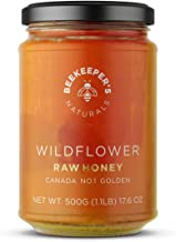 BEEKEEPER'S NATURALS Wildflower Honey - Raw, Wildcrafted, and Unprocessed- Rich in Nutrients and Beneficial Enzymes- Notes...