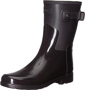 5612451941a6 Hunter Refined Mid Heel Gloss Rain Boots at Zappos.com