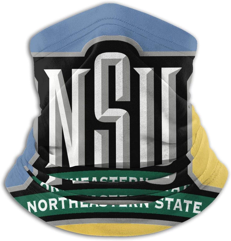 Northeastern State University Logo Unisex Comfort Microfiber Neck Gaiter Variety Scarf Face Motorcycle Cycling Riding Running Headbands.