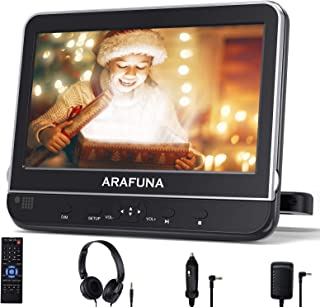 Car DVD Player with headrest Mount, ARAFUNA headrest Portable DVD Player for car with 10.1 Inch HD Display Screen, Support...