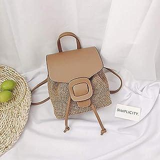Backpack Female Tide Fashion Korean Style Woven Beach Summer Leisure Travel Backpack Female Mini Straw Bag