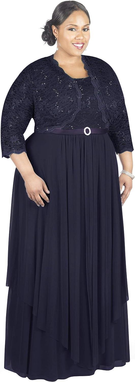 R&M Richards Women's Plus Size Formal Jacket Dress - Mother of The Bride Dress