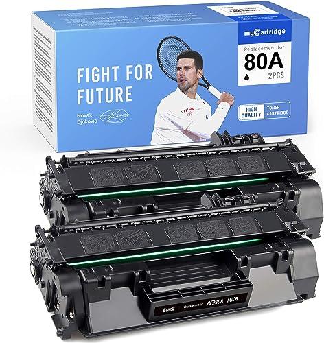 popular MYCARTRIDGE Compatible Toner Cartridge Replacement outlet online sale for HP CF280A 80A CF 280A 2 Pack Black Use with Laserjet Pro 400 MFP M425dn 400 wholesale M401n M401dne outlet sale