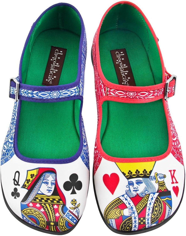 Choklad Design Choklad Lady Poker Kvinnors Mary Jane Flat Flat Flat  kundens första rykte först