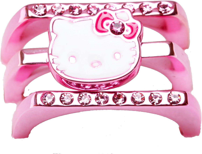 Hello Kitty Stackable Ladies Ring Metallic Pink