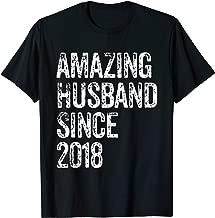 Amazing Husband Since 2018 1 Year Wedding Anniversary Shirt