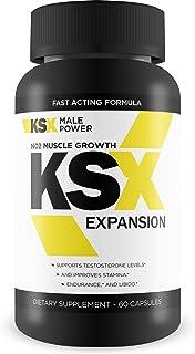 KSX Expansion - Muscle Expansion & N02 Muscle Growth Formula - Enhance Bloodflow - Preactivity/Preworkout Performance - Improve Nutrient Delivery - L-Arginine Supplement - Ksx Male Supplement