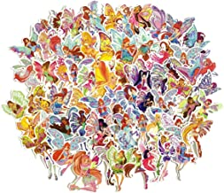 Winx Club Waterproof Stickers/Decals (70 pcs) of Cartoon for Laptop Skateboard Snowboard Water Bottle Phone Car Bicycle Luggage Guitar Computer PS4(Winx)