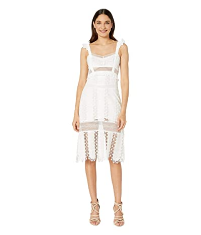 For Love and Lemons Gabrielle Midi Dress (Ivory) Women