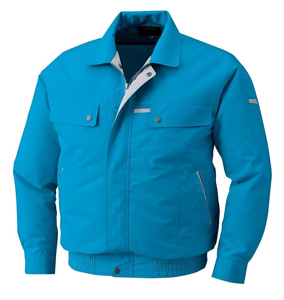 道ルーキー大胆な空調服 服単体 綿?ポリ混紡袖下マチ付き空調服 KU90450 ターコイズブルー M 8208630