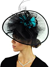 C.C Cocktail Fashion Sinamay Fascinator Hat Feather & Flower Design S102450