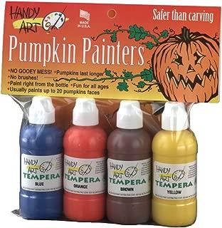 Handy Art 4 color - 2 ounce Tempera Pumpkin Painters Kit, 4 color assorted set( 882-049B)