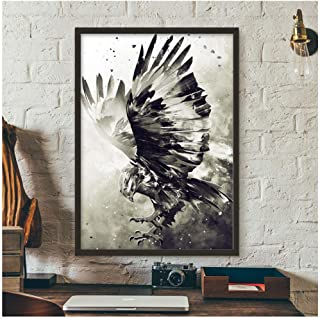 Hxjlm Watercolor Eagle Wall Art Canvas Painting Nordic Posters And Prints Wall Pictures For Living Room Home Decor 50X70Cmpcs