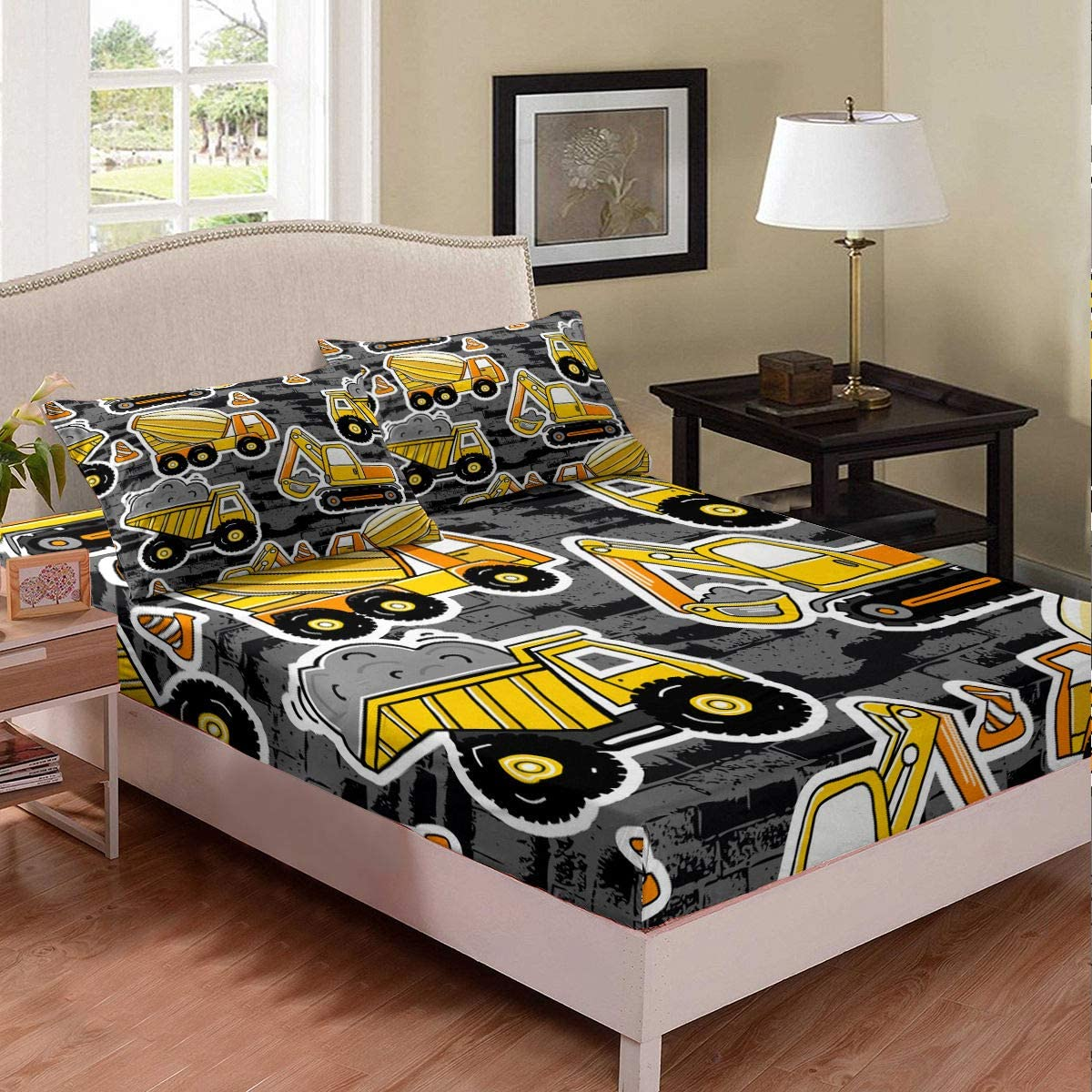 Teens Gamer Bedding Set Deep Pocket Video Game Controller Sheet Set For Kids Boys Girls Modern Gamepad With Action Buttons Black White Bed Cover Full Size 1 Fitted Sheet With 2 Pillow Cases