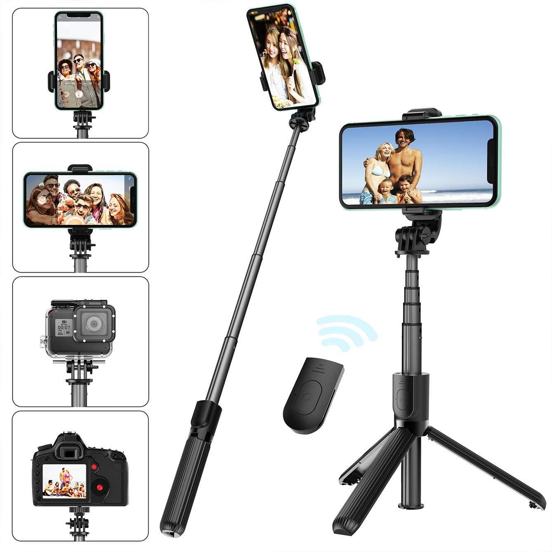 Selfie Stick Tripod with Removable San 25% OFF Antonio Mall Remote Bluetooth Wireless Shu