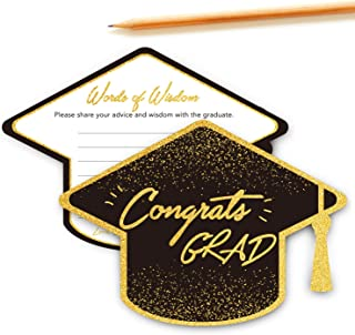 Chillake Graduation Advice Wishes Card - Words of Wisdom Cards for Graduate - Graduation Party Gift Ideas for High School ...