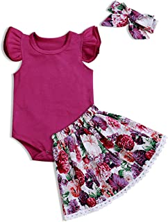 Lankey Baby Clothing Kids Summer Clothes Girls Flower Printing Vest + Pure Color Pants Children Clothing Set