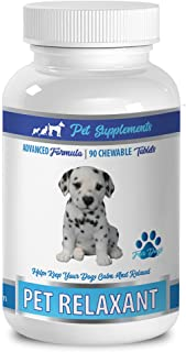 Dog Calming aid - PET Relaxant - Advanced Formula - for Dogs - CHEWABLE Tablets - Valerian for Pets - 1 Bottle (90 Chews)
