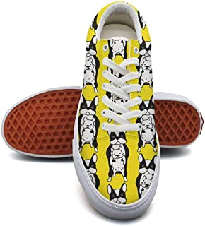 LJDGOJ Dogs Dachshund Dog Men Canvas Low top Slip on Tenis Shoes