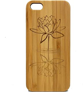Lotus Flower iPhone 7 Plus Case/Cover by iMakeTheCase | Eco-Friendly Bamboo Wood Cover Skin | Water Reflection. Yoga Zen Spiritual Enlightenment Buddhist Awakening