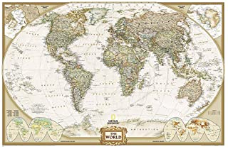 Best National Geographic: World Executive Wall Map - Laminated (46 x 30.5 inches) (National Geographic Reference Map) Review