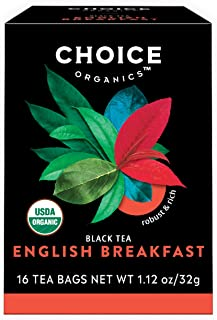 Choice Organics – Organic English Breakfast Tea (6 Pack) – Organic Black Tea – 96 Tea Bags