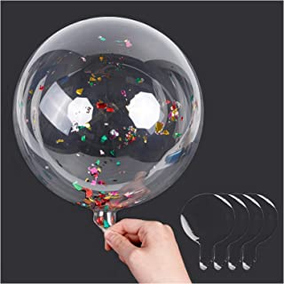 18 Inch Clear Bobo Balloons - 35 Pcs Transparent Latex Balloons for Wedding Birthday Christmas Party Decoration, Fillable ...