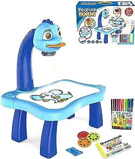 Table Peinture par Projection pour Enfants,Planche à dessin avec Projecteur de dessin,Jouet éducatif pour enfants,Projecte...