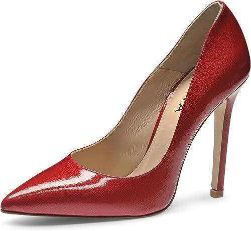 MIA Escarpins Femme Cuir Verni imprimé Rouge 36
