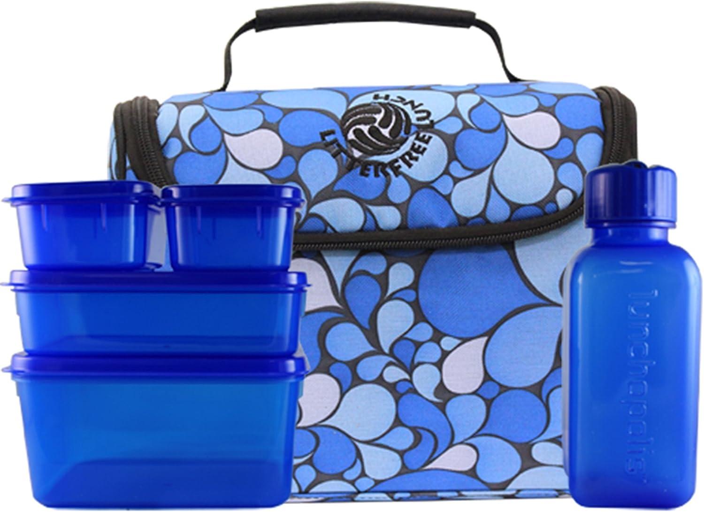 New Wave Enviro 796515500011 Litter Free Lunch - Blau mit BPA-freie Beh-lter B0013VMZ3A  | Clever und praktisch