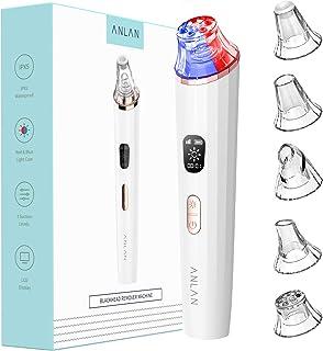 Mitesserentferner Porenreiniger ANLAN Mitesser Sauger Porenreiniger Blackhead Remover mit USB Aufladung Vakuumsauger Mitesser Entferner mit 5 Austauschbaren Reinigungsaufsätzen Porensauger Set