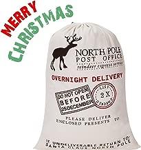Blank Santa Sack, HBlife Christmas Gift Bags with Drawstring Large Size 27.6