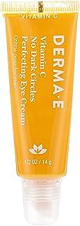 Derma E Vitamin C No Dark Circles Turmeric & Caffeine Perfecting Eye Cream, 14 g