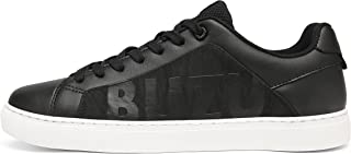 Mens Leather Lace Up Fashion Sneakers Breathable Skate...